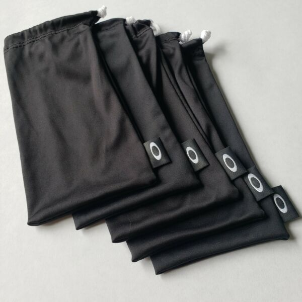 OAKLEY 5 PACK LARGE BLACK MICRO FIBER CLOTH SUNGLASSES CLEANING STORAGE BAGS $20.99