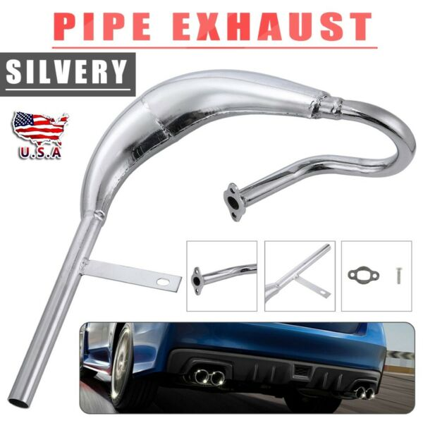 80cc 100cc Motorized Bike Big Fatty Pipe Exhaust w Expansion For Motor Kit US $49.99