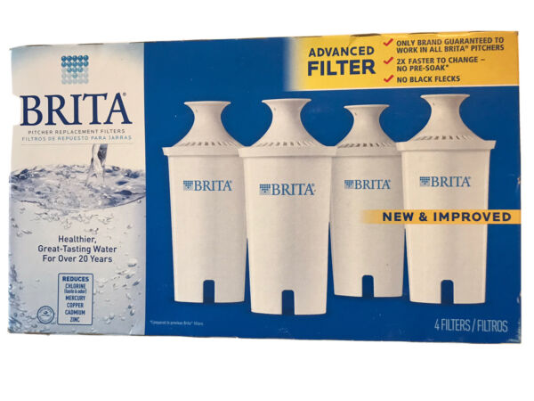 New Brita Filters 4 Pack Replacement Filters Advanced New amp; Improved New In Box
