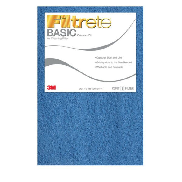 Basic Air Filter Replacement Pad Custom Cut To Size Adjustable Furnace Washable $17.99