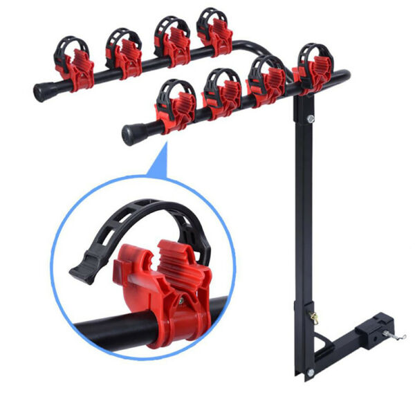 4 Bicycle Bike Rack Hitch Mount Carrier 1 1 4quot; 2quot; For Car Truck AUTO SUV Swing $53.99