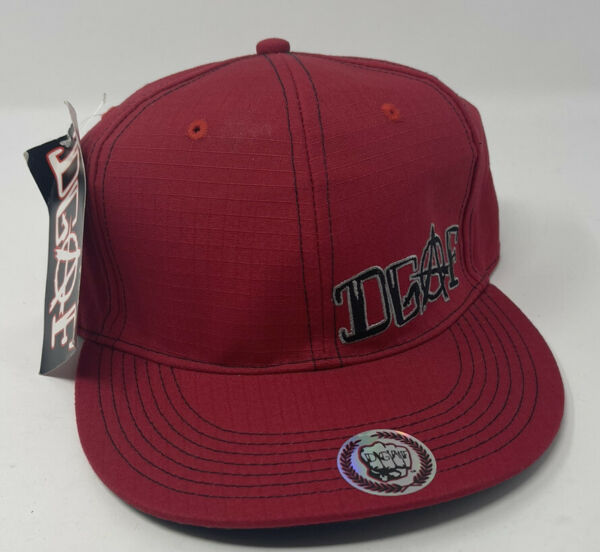 DGAF 7 Fitted Hat Red Flannel Kottonmouth Kings Saint Dog Suburban Noize KMK $49.99
