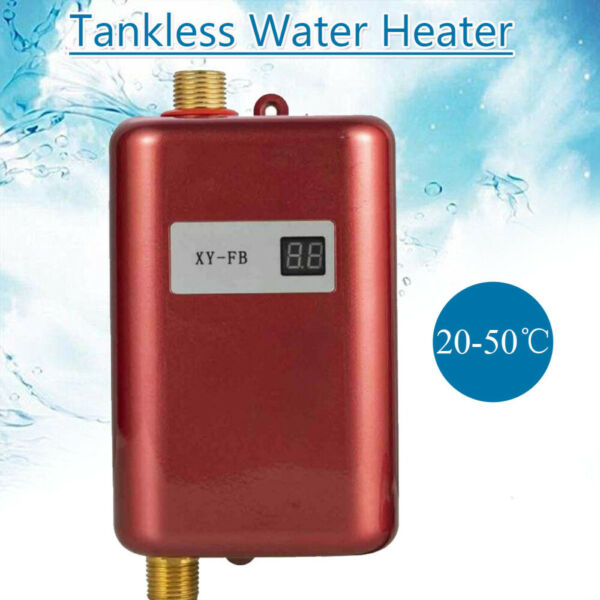 Electric Hot Water Heater Tankless 110V 3KW for Home Kitchen Washing Apartment $62.00