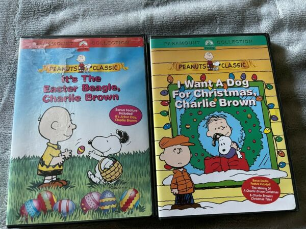 2 Peanuts Holiday DVD Lot: Dog for Christmas Charlie Brown amp; Easter Beagle $6.99