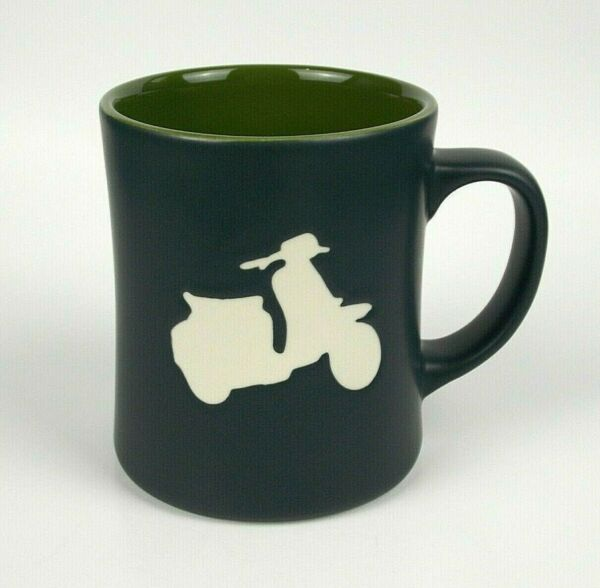 Starbucks Mug Vespa Scooter Moped Silhouette 2011 Collectible
