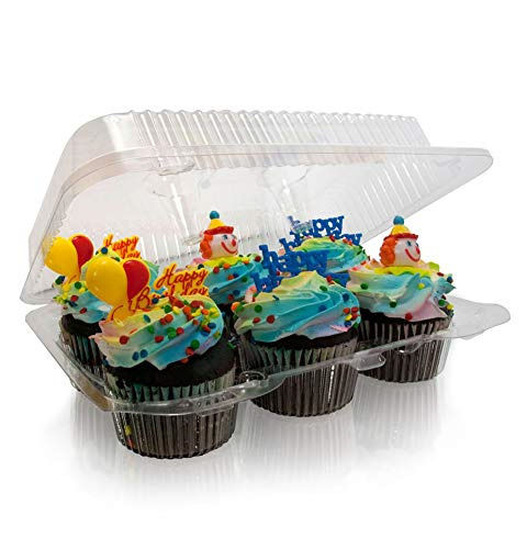 6 Compartment Cupcake boxes 6 Compartment cupcake Containers plastic disposable