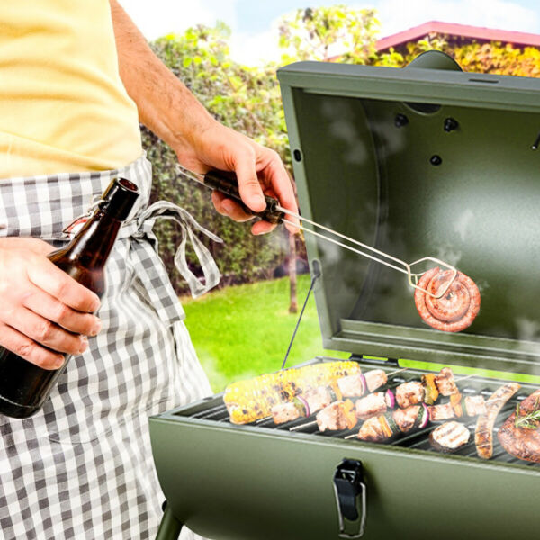 Steel Portable Backyard Charcoal BBQ Smoker Grill Outdoor Camping Patio