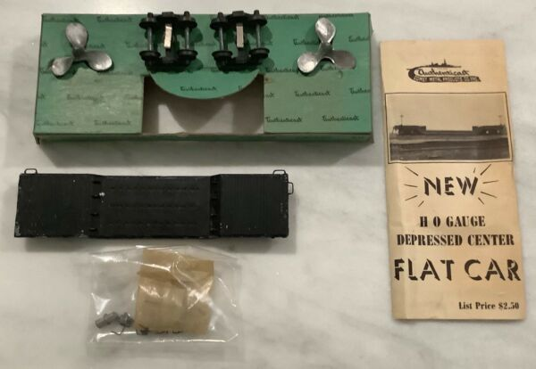 Vintage AUTHENTICAST HO Scale Depressed Center Flat Car w Propellers $17.50