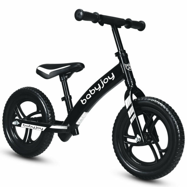 12quot; Balance Bike Kids No Pedal Learn To Ride Pre Bike with Adjustable Seat Black $47.59