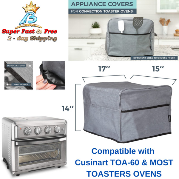 Counter Top Toaster Convection Oven Cover Airfryer Storage Pocket Case 17quot; x 15quot;