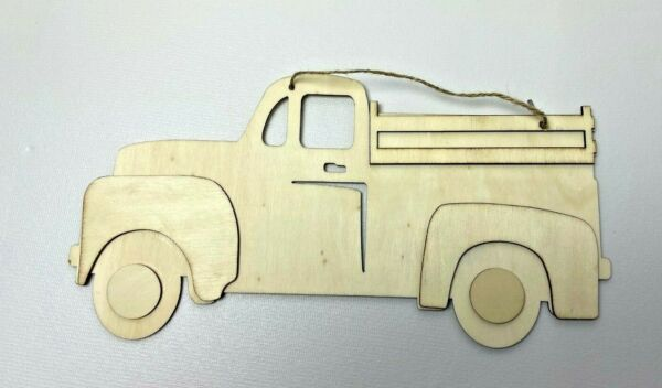 CRAFTER#x27;S SQUARE Wood DIY Truck Vintage Truck Hanging Wall Plaque *NEW* $9.99