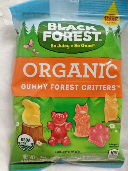 Black Forest Gummy Critters Organic 4oz bags Lot of 12 bags BB 10 2021