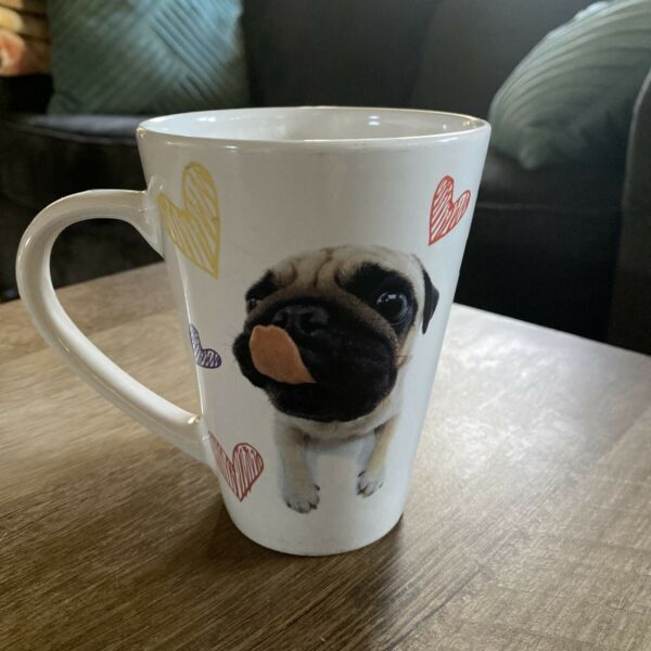 THE DOG Large Coffee Tea Cocoa Mug Cup by Artist Collection Pug Puppy $13.00