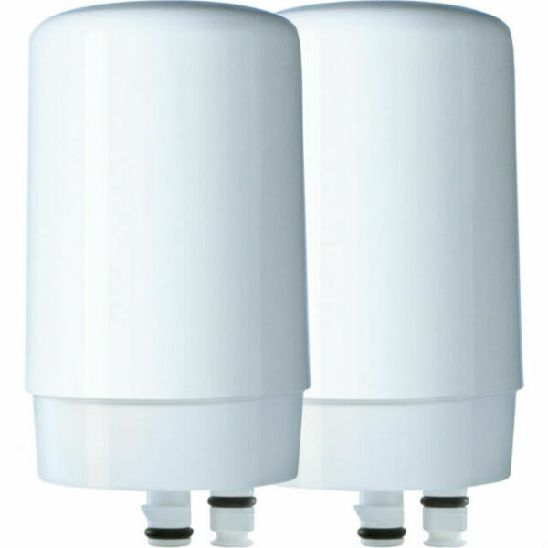 Brita Tap Water Faucet Filter Replacement 2 Count White FF 100 FAST SHIPPING