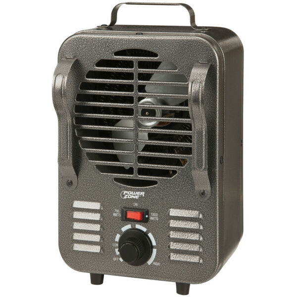 PowerZone TFH 204 Portable Electric Heater with 2 Heat Settings 750 1500W $39.18