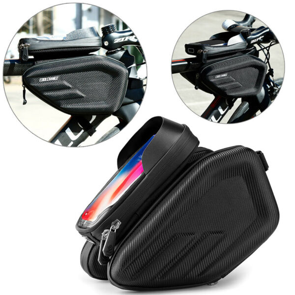 Cycling Front Top Tube Bicycle Bags Waterproof Touch Screen MTB Bike Frame Bag $27.38