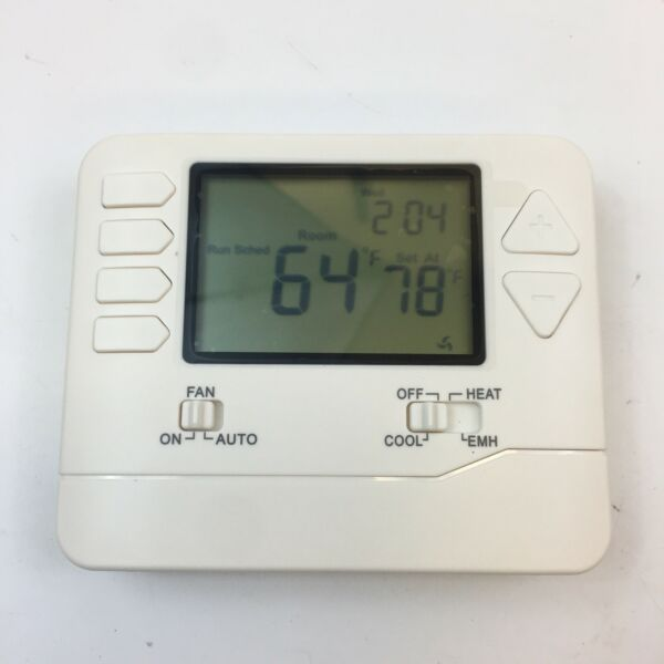 725 Heat Pump Thermostat 2 Heat 1 Cool Battery Or Hardwire 5 1 1 Programmable $16.99