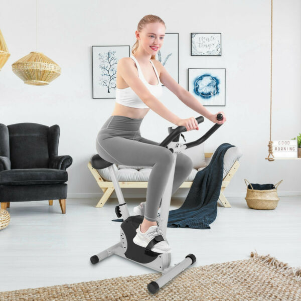 Indoor Exercise Bike Sport Bicycle Fitness Equipment Home Workout w Display W88 $95.88
