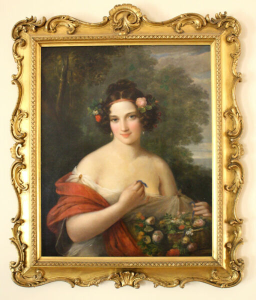 MAGNIFICENT FRENCH 19C OC PAINTING  ATTRIBUTED TO WILLIAM    BOUGEUERAU