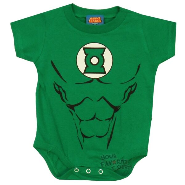 Green Lantern Symbol Costume DC Comics Infant Baby Snapsuit