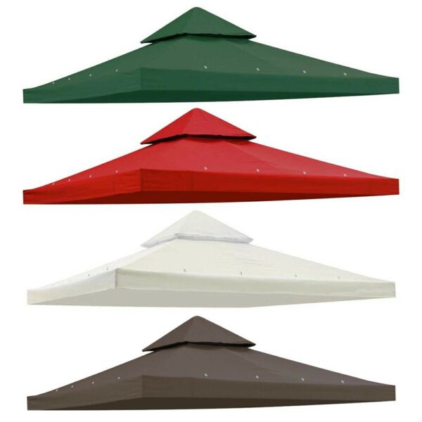 8x8#x27; Gazebo Top Outdoor Canopy Replacement Cover UV30 Patio Sunshade Backyard