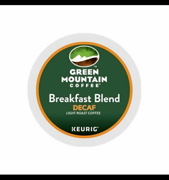 336 K-cups GREEN MOUNTAIN BREAKFAST BLEND DECAF COFFEE