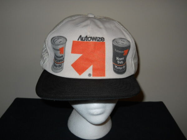 VTG- 1970s80s Autowize Autowise Motorwise Motor Oil advertising hat sku7