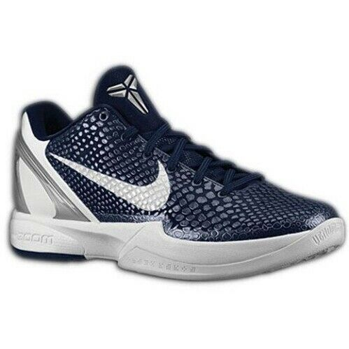 New Mens 17.5 NIKE ZOOM KOBE VI 6 Midnight Blue White Basketball Shoes Sneakers