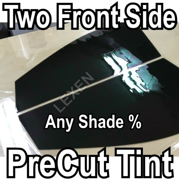 TWO FRONT PRECUT 2PLY DYED WINDOW TINT COMPUTER CUT GLASS FILM CAR ANY SHADE d