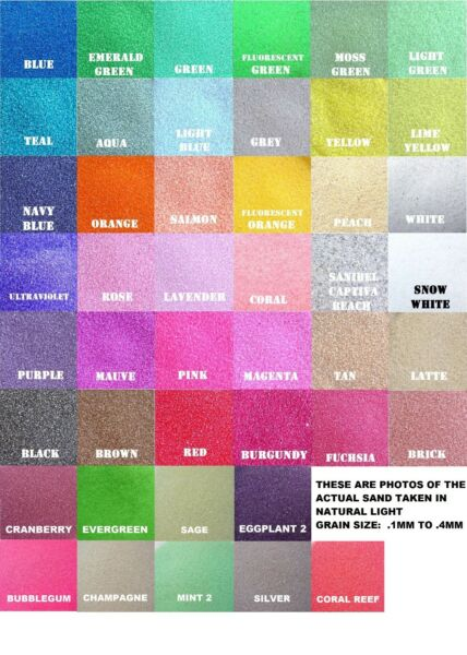 Colored Sand 1lb Bag(~1 14 cup) *125+ Colors* Unity Sand Ceremony Wedding Art