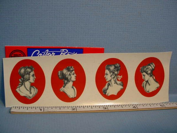 Water Mount Slide Decals 4 Cameo Portrait #94490 Dollhouse Miniature $4.99