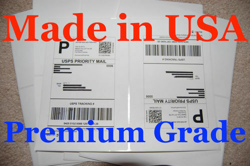 Round Corner-Shipping Labels-Made in USA-Self Adhesive-USPS UPS FED-8.5x11