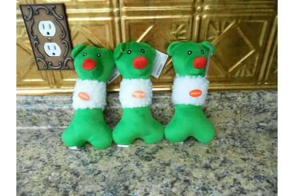 "ZANIES 8 "" GREEN FROSTY FRIEND DOG TOY - FREE SHIPPING $6.50"