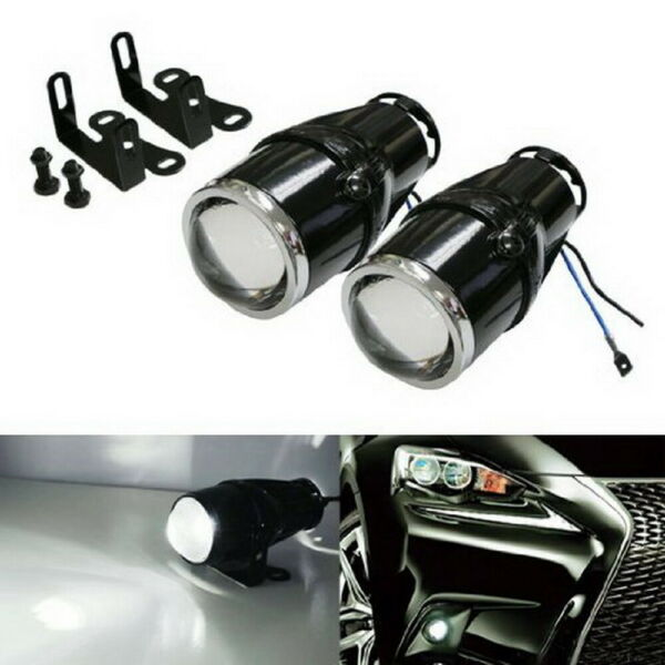 2.25quot; Bullet Projector Fog Light Lamps For Any Car SUV Truck Bike Add On $31.67