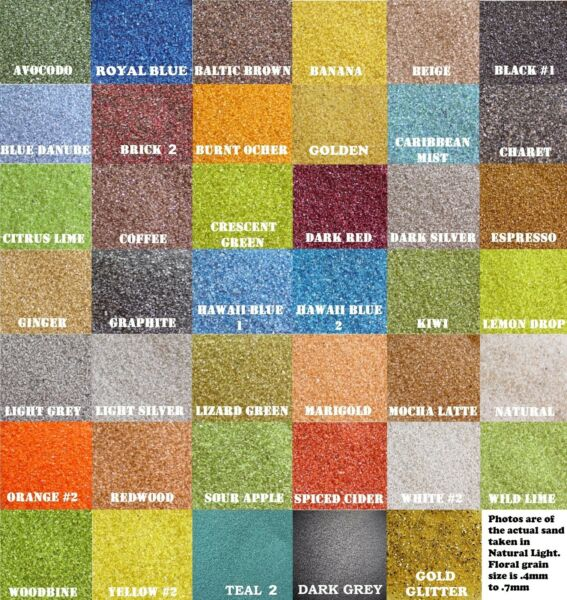 Colored Sand 6oz (12 cup) *125+ Colors* Floral Wedding Unity Sand Crafts
