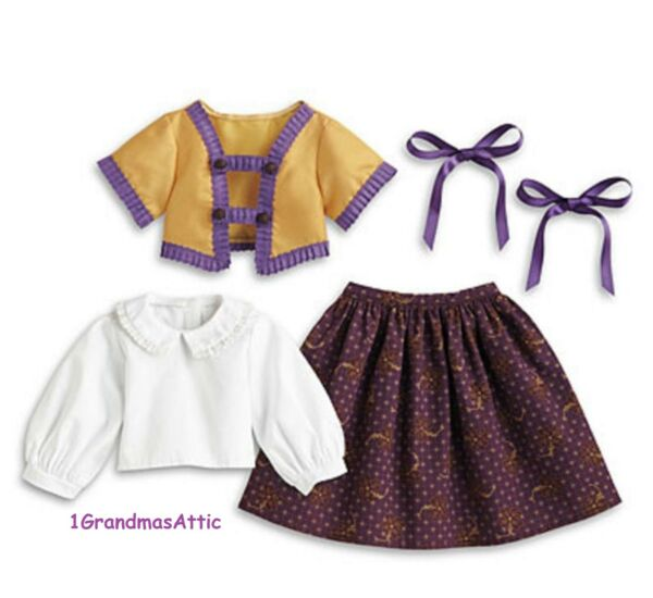 American Girl Cecile#x27;s Parlor Outfit Jacket Ribbons NIB Retired