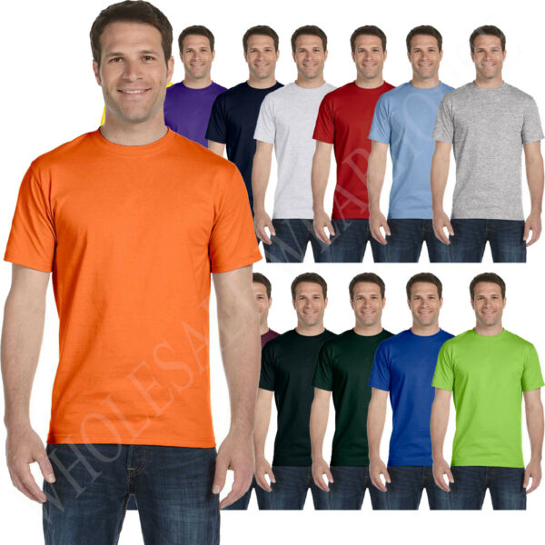 Hanes Mens 100% Cotton T Shirt Tagless Heavyweight ComfortSoft Tee S 3XL 5250T $3.59