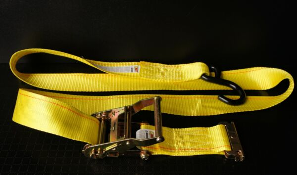(4) 6' E Track Ratchet Tie Down Straps f Tool Box Cooler Plumber Landscape Tools