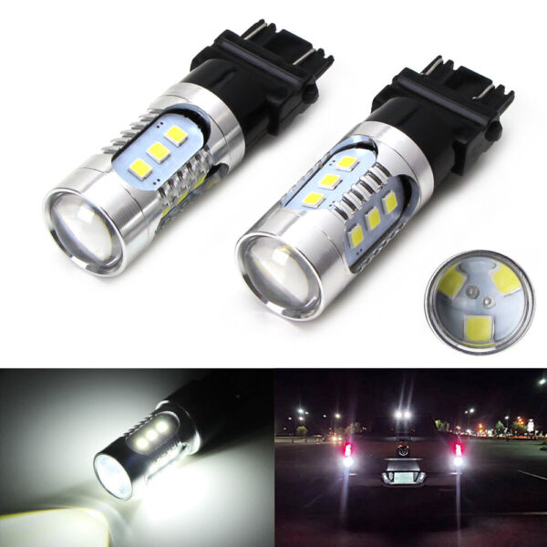 White High Power 15-SMD 360° 3156 3056 T25 LED Bulbs For Backup Reverse Lights