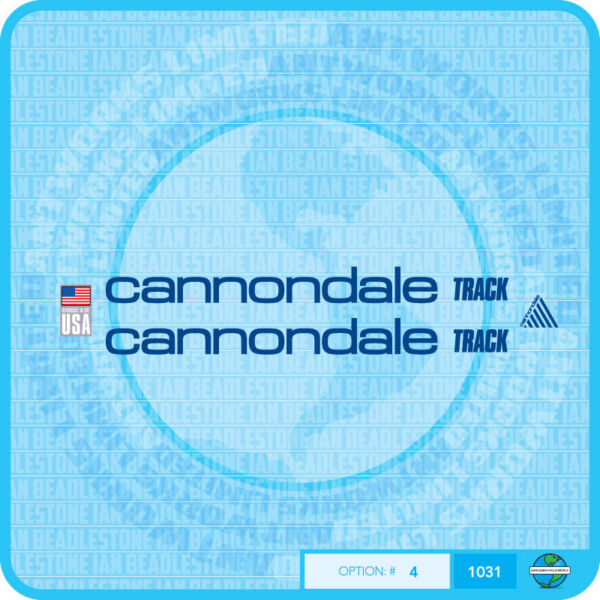 Cannondale Track Bicycle Decals Transfers Stickers Choice Of 5 Colours GBP 6.99