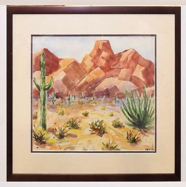 Exquisite Western Scene Watercolor Painting by Theodor H. Reamer - Listed Artist