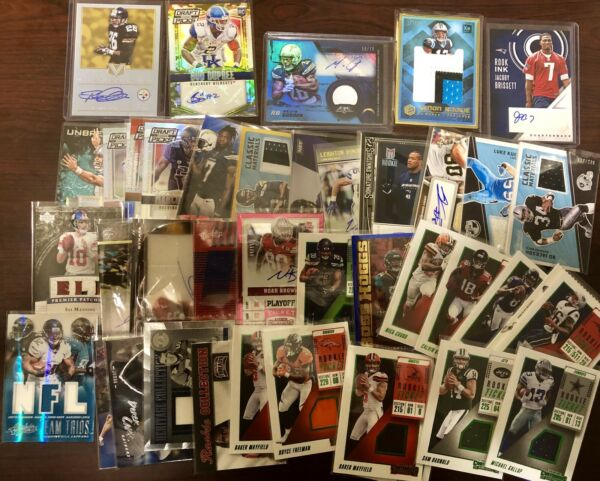 NFL Football Hot Pack Card Lot! AUTO Game Used Rookies and more! Extreme BV$$$