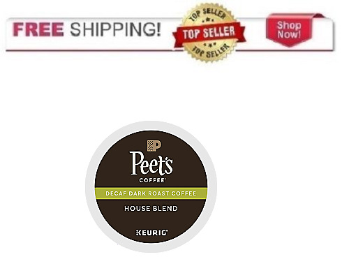 FRESH Peet's DECAF HOUSE BLEND Keurig K-cups Coffee PICK THE SIZE Ships FREE