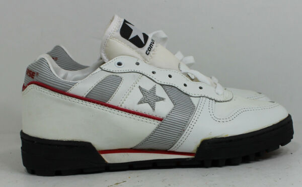 Converse Shoes Free Agent 7 17321 Leather White Rare 1988 Vintage Sneakers