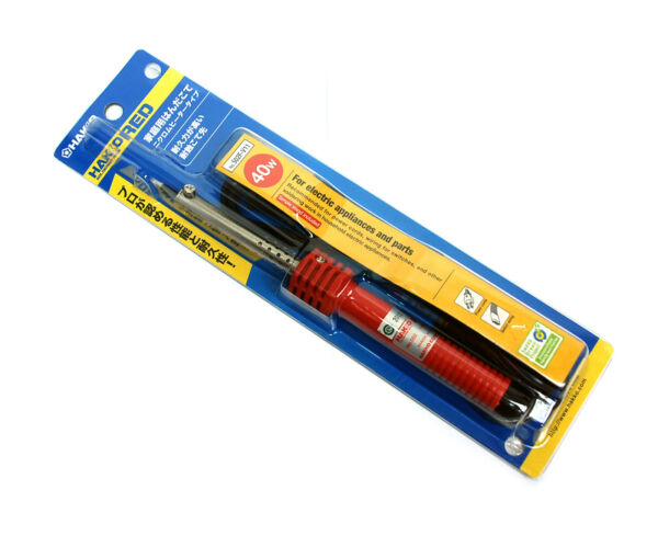 1pc Hakko Red Soldering Iron No. 502 40W AC110V Tip=4mm BB4 Simple Stand Japan $11.40