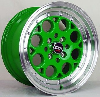 4 DRIFT DR5 WHEELS 15X8 JDM EUROPEAN EURO TUNER 4 LUG 4X4.5 WIDE STANCE FLUSH J