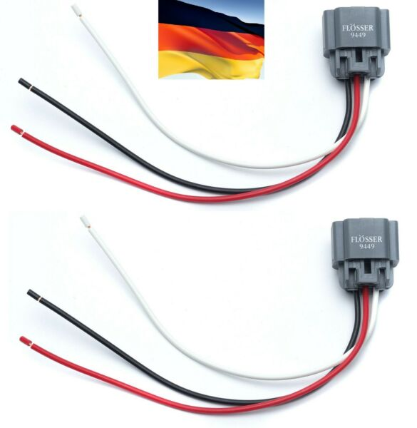 Flosser Wire Harness 9449 Pigtail Female 9008 H13 Headlight Dual High Low Beam