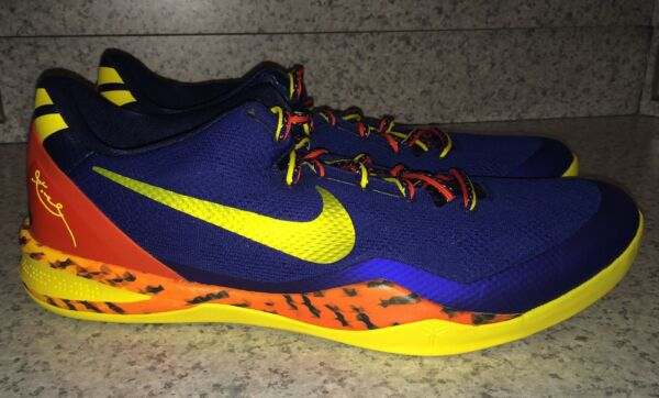 NIKE KOBE 8 System Low Blue Yellow Orange Basketball Shoes Sneakers NEW Mens 18