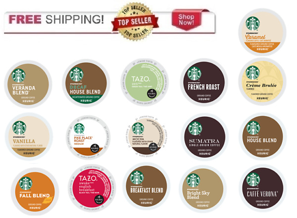 FRESH Starbucks Keurig K-cups Coffee PICK THE FLAVOR & SIZE Ships FREE