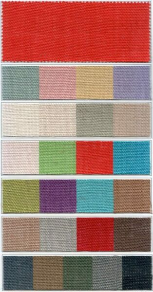 Colored Burlap 60quot; wide 11oz 30 Foot Roll